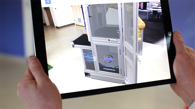 an iPad with augmented reality