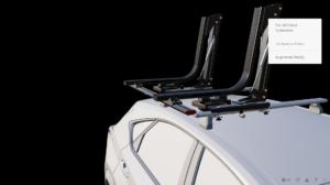 3d configuration of a car rack